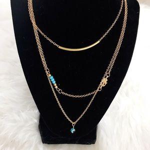 Jewelry - Gold Layered Hamsa Hand Necklace NWOT